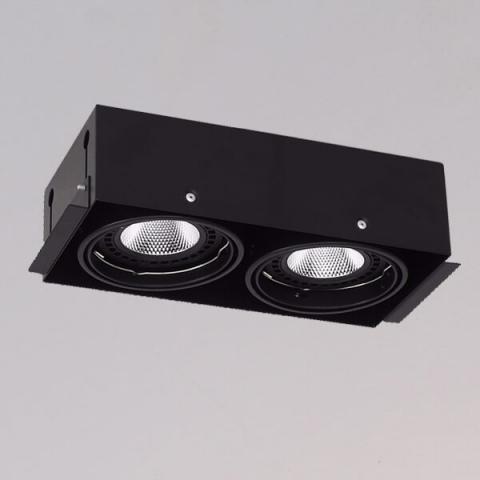 開孔300*150mm*AR111 COB 15W*2無邊框盒燈 1